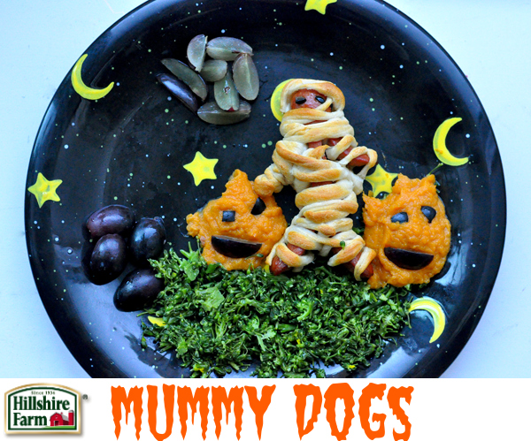 Halloween Food For Kids - Mummy Hot Dogs With Cut & Arms Recipe